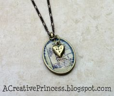 music sheet necklace