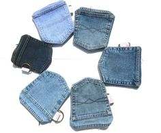 Denim Pockets Wallet with zipper