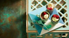 Spiced chocolate pots - its says its an easy recipe - the styling probably took longer?