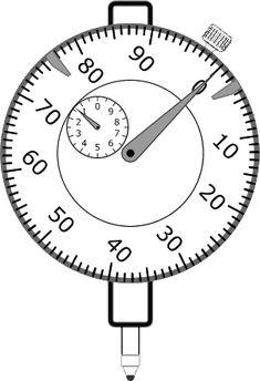 Virtual Dial Indicator, Simulator in Hundredths of Millimeter Engineering Tools, Measuring Instrument, Metal Shop, Metal Working, Instruments, Clock, Garage Workshop, Autocad, Decorating Ideas