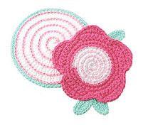 flower pink potholder by Carolyn Christmas, via Flickr