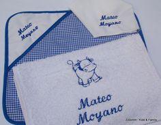 Set escolar personalizado, mantelito, servilleta y toalla infantil