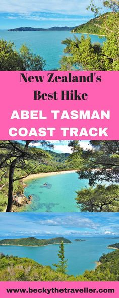 Abel Tasman Coast Track New Zealand - Hiking one of New Zealand's most beautiful hikes. Enjoying the scenery of forests inland and then cold beaches and turquoise water. Top tips for completing the Abel Tasman Coast Track Europe Travel Guide, Travel Destinations, The Parking Spot Hobby, Abel Tasman National Park, Hiking Guide, Hiking Trips, Backpacking, Camping, New Zealand Travel