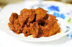 Malvani Mutton Sukka is a dish from the Malwan area of the Konkan region.  The dish can be used as a starter as well as a side dish.