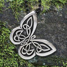 Celtic Butterfly Pendant   Celtic Knot Works