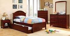 Furniture of America Chesterton Youth Panel Bed, Cherry, Twin  http://www.bestdealstoys.com/furniture-of-america-chesterton-youth-panel-bed-cherry-twin/