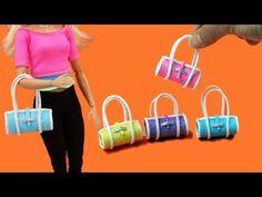 How to Make Mini Handbag for Barbie Dolls 👛Barbie Style EASY😍Miniature Purse Toturial Barbie Und Ken, Barbie Dolls Diy, Barbie Shoes, Crochet Barbie Clothes, Doll Clothes Barbie, Barbie Doll House, Diy Doll, Barbie Style, Dollhouse Accessories