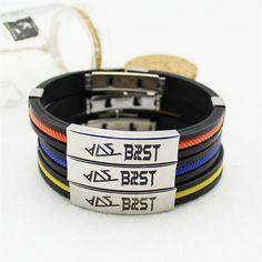 Beast Korean Boyband B2ST Official Logo Cool Titanium Wristband Bracelet  #Beast #Korean #Boyband #B2ST #Official #Logo #Cool #Titanium #Wristband #Bracelet