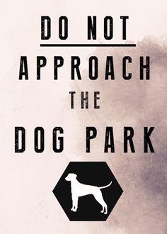 Do not approach the dog park. #nightvale