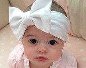 White Bow Baby Headwrap