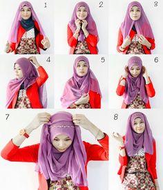 Hijab tutorial square hijab