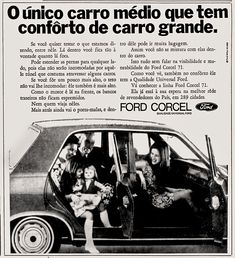 Anúncio Ford Corcel 1970