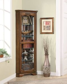Coaster Curio Cabinet in Cherry with Glass Door - 950195, http://www.amazon.com/dp/B003FI436G/ref=cm_sw_r_pi_awdl_houRsb02QYQ7C