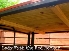 Replace The Top Of The Patio Table With Wood   No More Blinding Reflection  From The