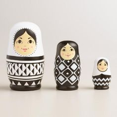 Chinese nesting dolls-One of my favorite discoveries at WorldMarket.com: Black and White Nesting Dolls