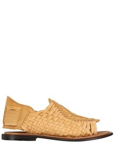 Hand Woven Nubuck Leather Tricot Sandals
