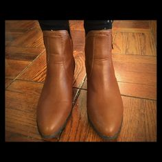 brown booties. size 7. Never been brown. Charlotte russe brown booties. Charlotte Russe Shoes Ankle Boots & Booties