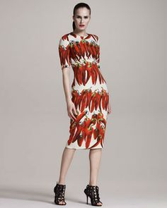 Spicy peppers and a dress!? This was made for me.  Dolce & Gabbana Chili Pepper Dress