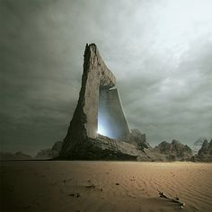 portal - it may not be real but its still breathtaking! I would go wherever it would take me.