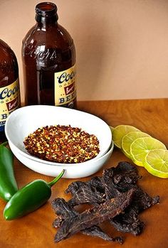 Chile, Lime and Lager Beef Jerky is Easy to Make and Delicious Beef Jerky Marinade, Beef Jerkey, Deer Jerky Recipe, Jerkey Recipes, Homemade Beef Jerky, Venison Recipes, Dehydrator Recipes, Cooking Recipes, Chile