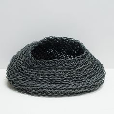 Round Charcoal recycle paper basket  www.clothandgood.com