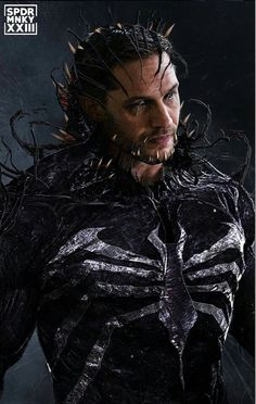 Tom Hardy's Venom gets the iconic spider chest symbol in a stunning piece of fan art inspired by the character's first cinematic solo o. Marvel Comics, Venom Comics, Marvel Heroes, Marvel Avengers, Venom Spiderman, Marvel Venom, Deadpool Wolverine, Black Panther Marvel, Black Panthers