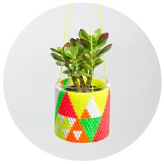 Image of Woven Bead Planter (Mexi)