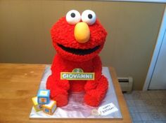 3D Elmo Birthday Cake!