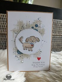 Magical Scrapworld bella and friends Dog Cards, Kids Cards, Kids Birthday Cards, Stamping Up Cards, Animal Cards, Cards For Friends, Sympathy Cards, Paper Cards, Cute Cards