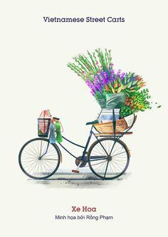 Vietnam Street Cart on Behance Indian Illustration, Travel Illustration, Anime City, Vietnam Travel, Indian Art, Cute Drawings, Food Art, Vector Art, Illustrators