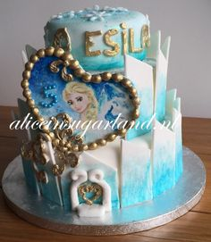 hand painted frozen cake