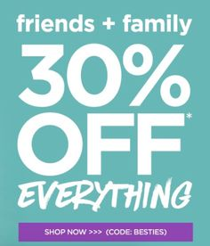 Tarte 30% off everything!