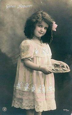 Vintage Postcard ~ Pretty Girl