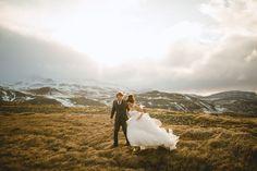 Sophia and James' elopement from Hotel Búðir on the Snæfellsnes Peninsula in Western Iceland.