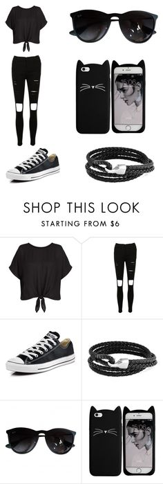 """""""I just wanna look good for you..."""" by directioner1706 ❤ liked on Polyvore featuring Converse, Bling Jewelry and Ray-Ban"""