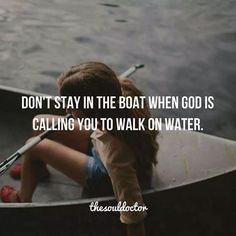 walk on water ...