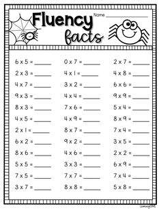 Halloween Math Worksheets, Printable Multiplication Worksheets, Math Addition Worksheets, 4th Grade Math Worksheets, Teaching Multiplication, 3rd Grade Math, Teaching Math, Multiplication Strategies, Teaching Geography