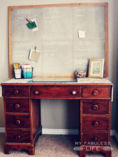 Craftaholics Anonymous® | DIY Project Board: Tutorial on how to Chalk Board! Create a new art work space!
