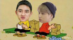Exo Ot12, Kaisoo, Kyungsoo, Chanyeol, Exo Fan, Exo Memes, Picts, Gossip Girl, Yolo