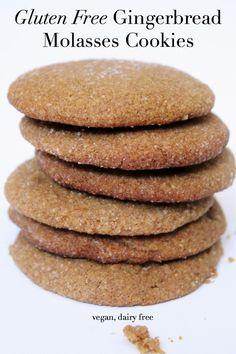 Vegan Gluten Free Gingerbread Molasses Cookies