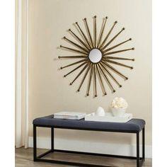 Safavieh Capella Sunburst Mirror, Antique Gold
