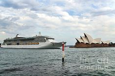 #RADIANCE OF THE #SEAS - #OPERA #HOUSE.. #Ship   #Prints & cards available:  http://kaye-menner.artistwebsites.com/featured/radiance-of-the-seas-passing-opera-house-kaye-menner.html  -
