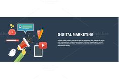 Check out Icons for digital marketing by robuart on Creative Market