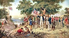 A print from a painting showing Captain James Cook - taking possession of New South Wales Fine Art Prints, Framed Prints, Canvas Prints, Captain James Cook, Today In History, Nz History, British History, Family History, New South
