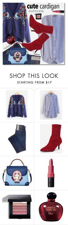 """Cute cardigan!!"" by svijetlana ❤ liked on Polyvore featuring Emini House, Bobbi Brown Cosmetics, Christian Dior, shein and cutecardigan"