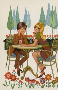 Wild@heart: Friday freebie - Vintage postcard 2