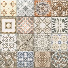 Cm Porcelain Moroccan Style Floor & Wall Patchwork Tiles - 5 Tiles for sale online Kitchen Wall Tiles, Wall And Floor Tiles, Kitchen Decor, Patchwork Tiles, Patchwork Patterns, Patchwork Kitchen, Moroccan Decor, Moroccan Style, Peel And Stick Floor