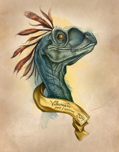 Raptor Art Print - @Ali Velez Nichole this reminds me of something that would be hung in your room.