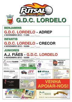 Futsal: GDC Lordelo   Jogos camadas formação   > Domingo, 4 de Novembro, 2012