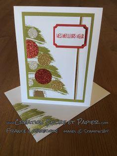 @Carte de Noël @Christmas Card @Work of Art @Framelits Étiquettes en tout genre @Tags & Labels Framelits @Stampin'Up! www.creationencreetpapier.com